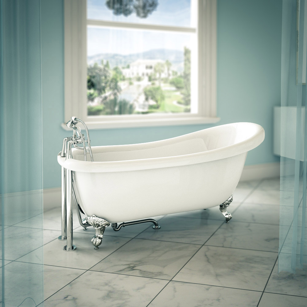 Trafalgar Roll Top Slipper Bath - 1710mm Large Image
