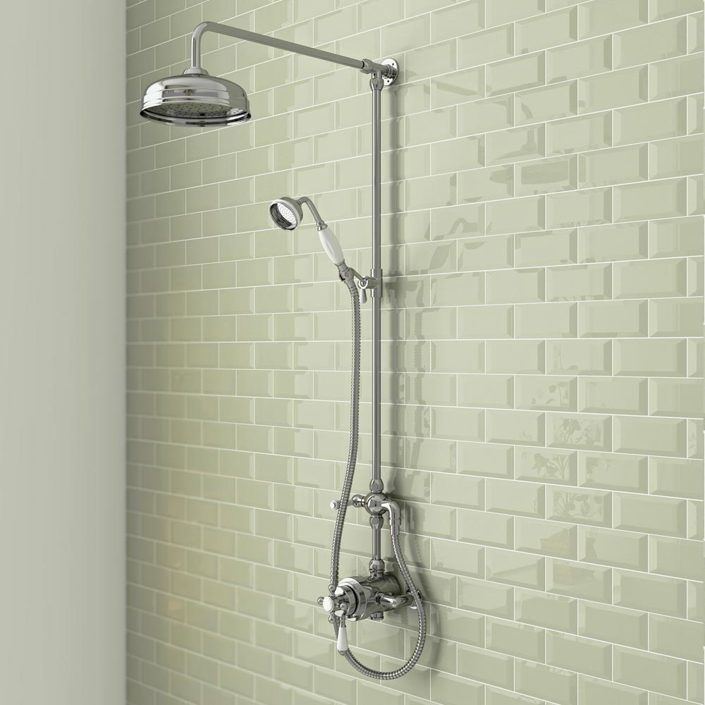 Trafalgar Traditional Dual Exposed Thermostatic Shower Valve profile large image view 3