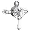Trafalgar Traditional Dual Exposed Thermostatic Shower Valve Small Image