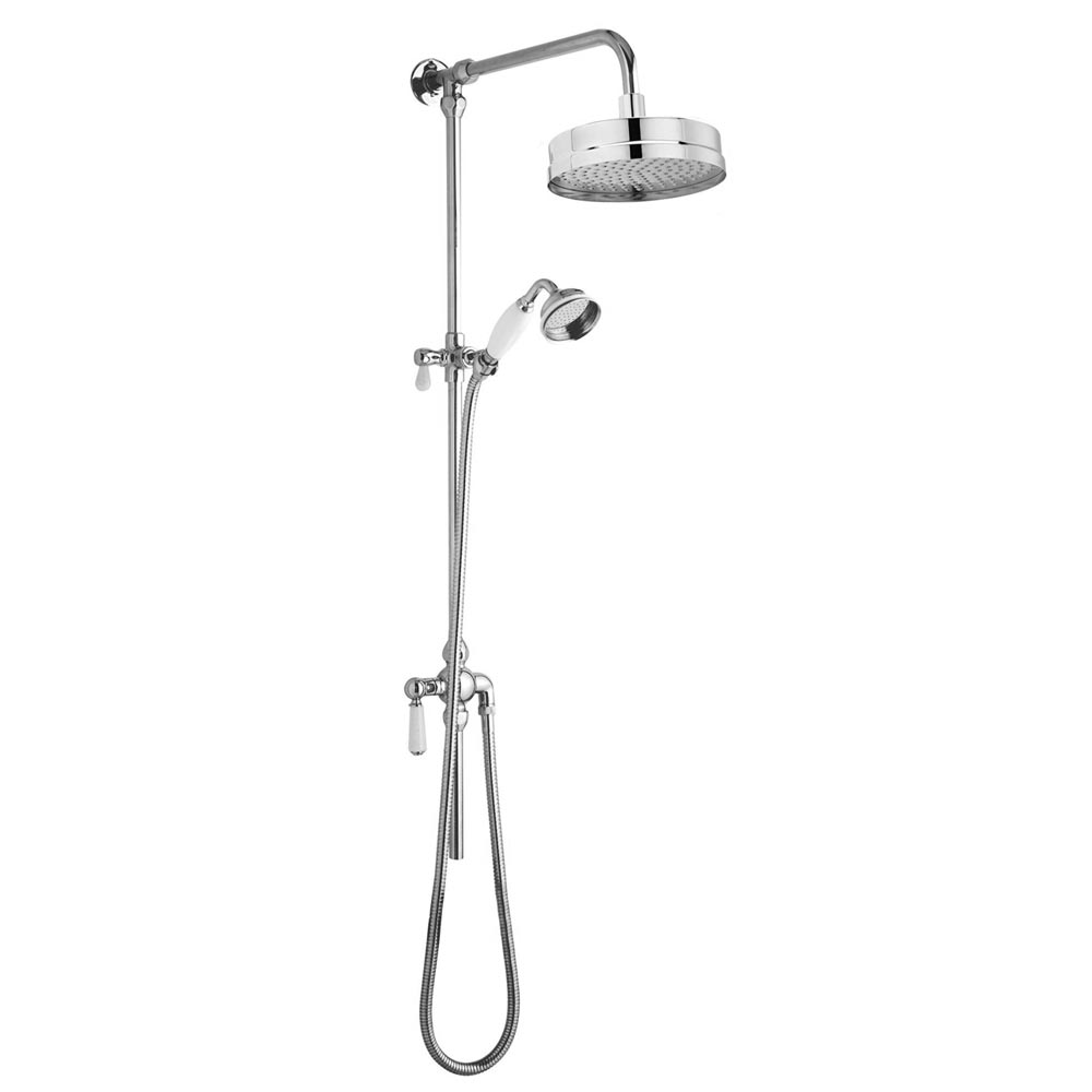 Trafalgar Traditional Luxury Rigid Riser Kit with Diverter & Dual Exposed Shower Valve profile large image view 2