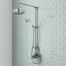 Trafalgar Traditional Luxury Rigid Riser Kit with Diverter & Dual Exposed Shower Valve Medium Image