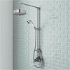 Trafalgar Traditional Luxury Rigid Riser Kit with Diverter & Dual Exposed Shower Valve Small Image