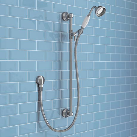 Trafalgar Traditional Shower Slide Rail Kit - Chrome