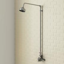 Trafalgar Traditional Twin Exposed Thermostatic Shower Valve inc Rigid Riser Medium Image