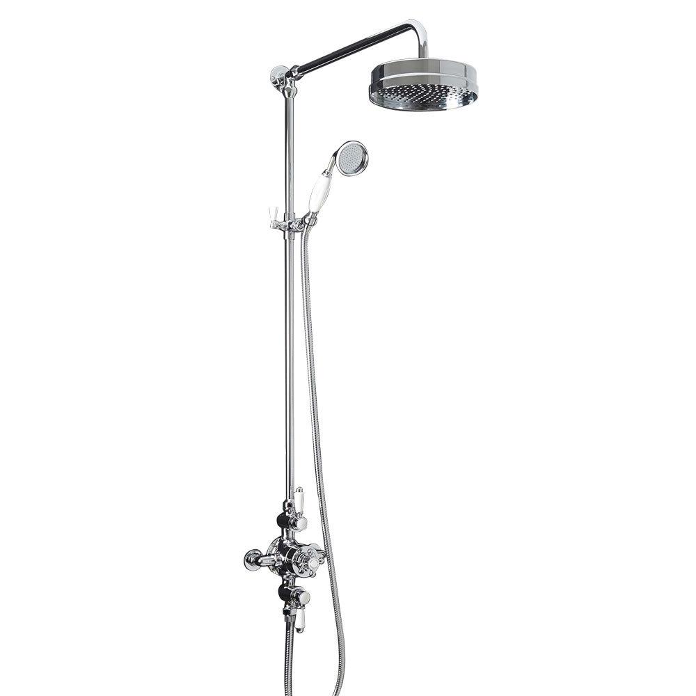 Trafalgar Triple Exposed Thermostatic Shower Valve + Luxury Rigid Riser Kit
