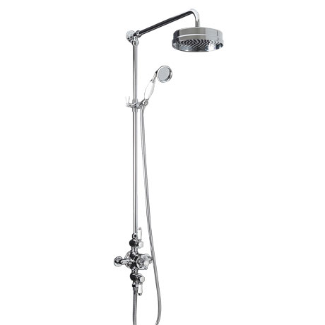 Trafalgar Triple Exposed Thermostatic Shower Valve + Luxury Rigid Riser Kit