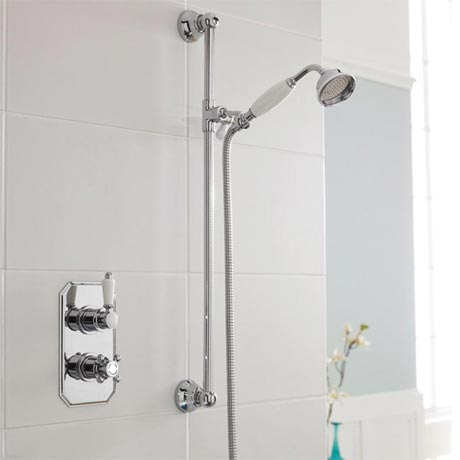 Trafalgar Twin Concealed Thermostatic Shower Valve + Slider Rail Kit