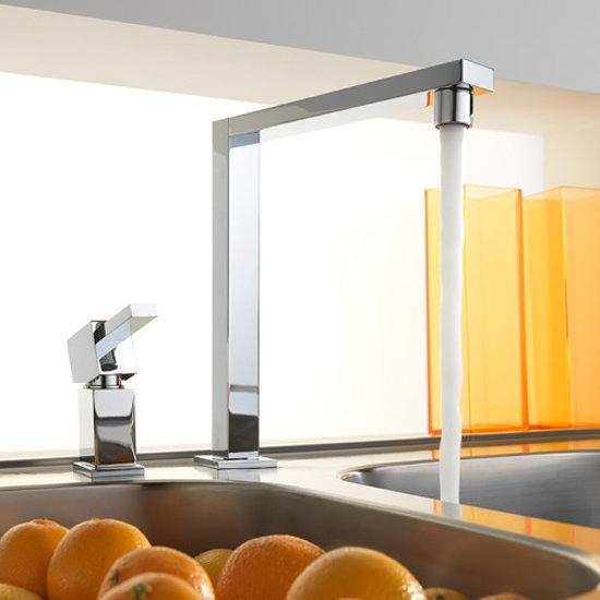 Tre Mercati - Edge 2 Hole Kitchen Sink Mixer - Chrome - 92011 profile large image view 2
