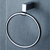 Tre Mercati - Edge Towel Ring - Chrome - 66560 Small Image