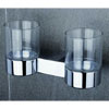 Tre Mercati - Edge Wall Mounted Double Glass Holder - 66525 Small Image