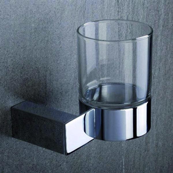 Tre Mercati - Edge Wall Mounted Glass Holder - 66520 profile large image view 1