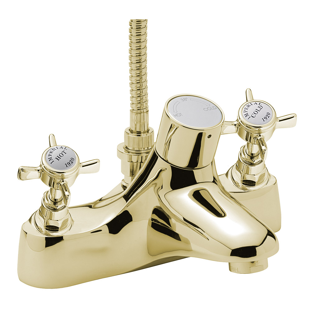Tre Mercati - Imperial Thermostatic Deck Bath/Shower Mixer - Antique ...