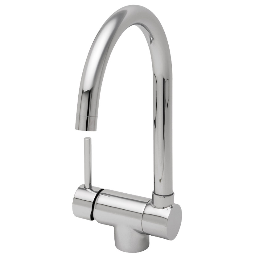 Tre Mercati Origami Mono Sink Mixer with Fold Down Spout - 91040 Large Image