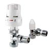 Trent Thermostatic Radiator Valve - Lockshield Pack - Angled profile small image view 1