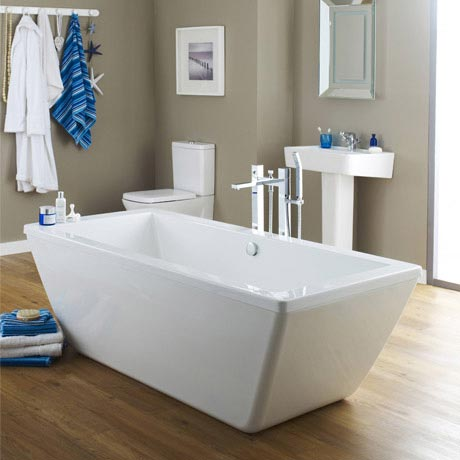 Trick 1800 Double Ended Square Freestanding Bath - NFB006