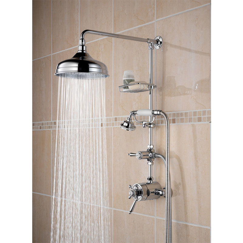 Bristan Trinity Thermostatic Shower inc Rigid Riser & Diverter to Shower Handset Large Image