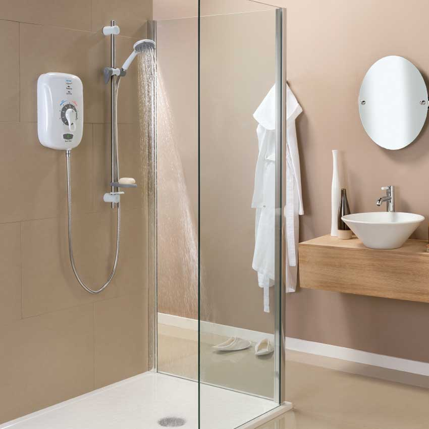 Triton Safeguard+ 8.5kW Thermostatic Electric Shower - CSGP08W Feature Large Image