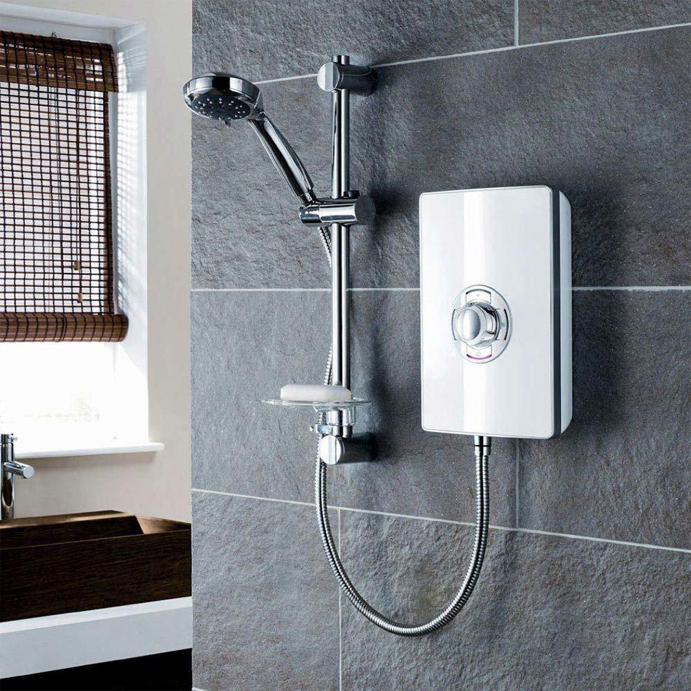 Triton - Aspirante 9.5kw Electric Shower - White Gloss - ASP09GSWHT profile large image view 2