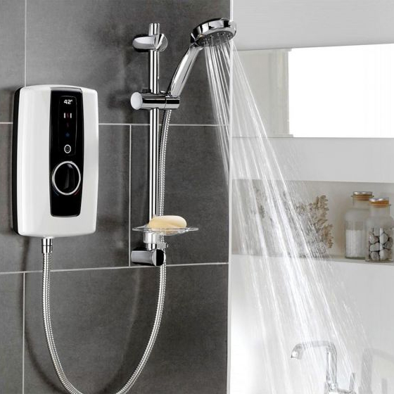 Triton Touch 9.5kW Electric Shower White And Black - ASPTOU09WHT profile large image view 2