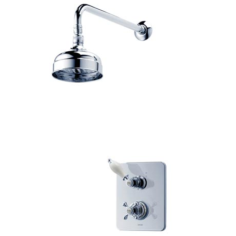 Triton Unichrome Avon Built-in Shower Valve with Fixed Shower Head