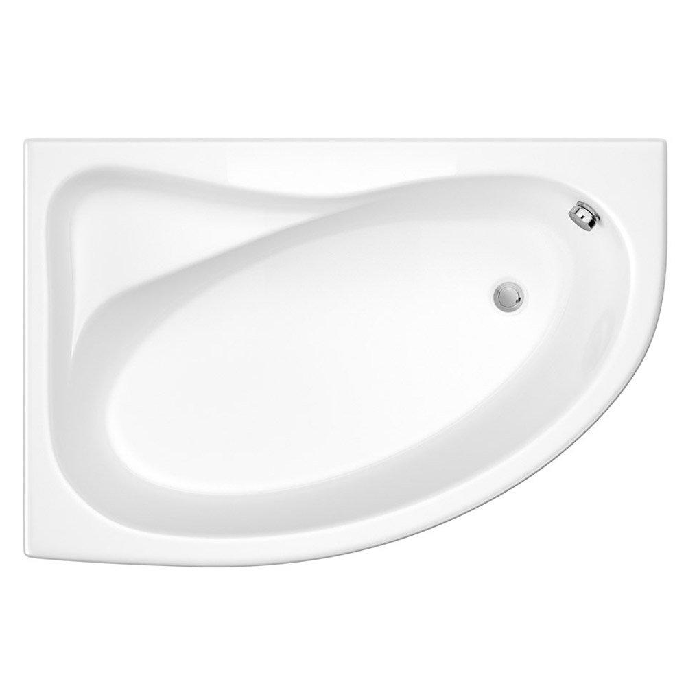 Trojan Classic 1535 x 1005 Offset Corner Bath with Nth Panel - LH Option - B357 profile large image view 2