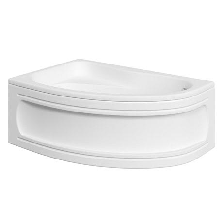Trojan Classic 1535 x 1005 Offset Corner Bath with Nth Panel - Left hand option - B357