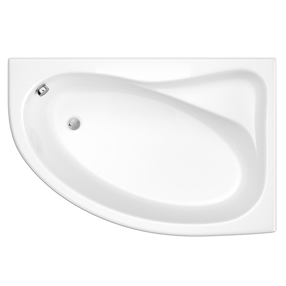 Trojan Classic 1535 x 1005 Offset Corner Bath with Nth Panel - Right hand option - B360 Profile Large Image