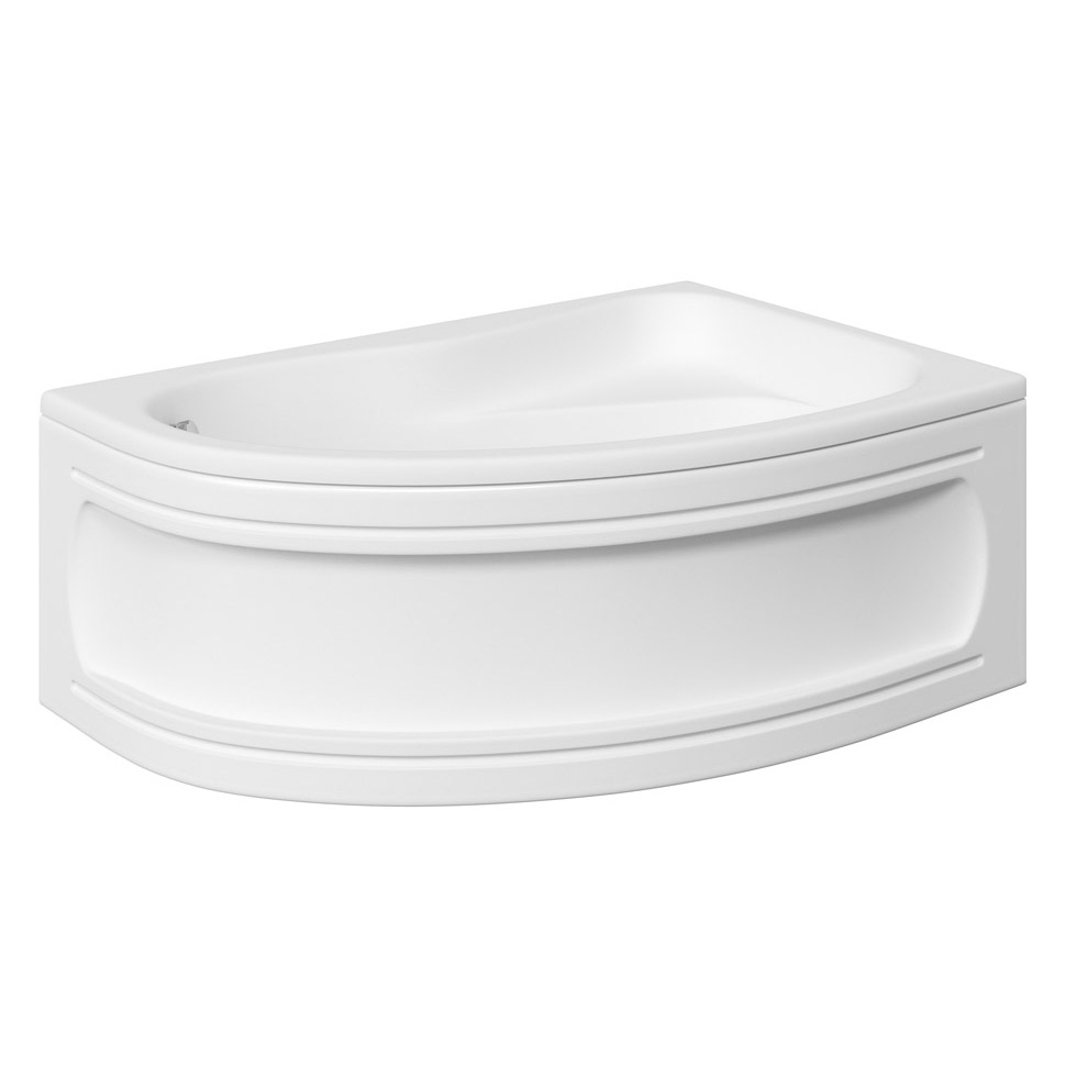 Trojan Classic 1535 x 1005 Offset Corner Bath with Nth Panel - Right hand option - B360 Large Image