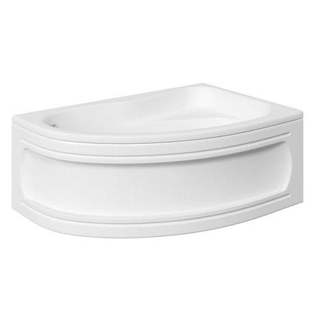 Trojan Classic 1535 x 1005 Offset Corner Bath with Nth Panel - Right hand option - B360