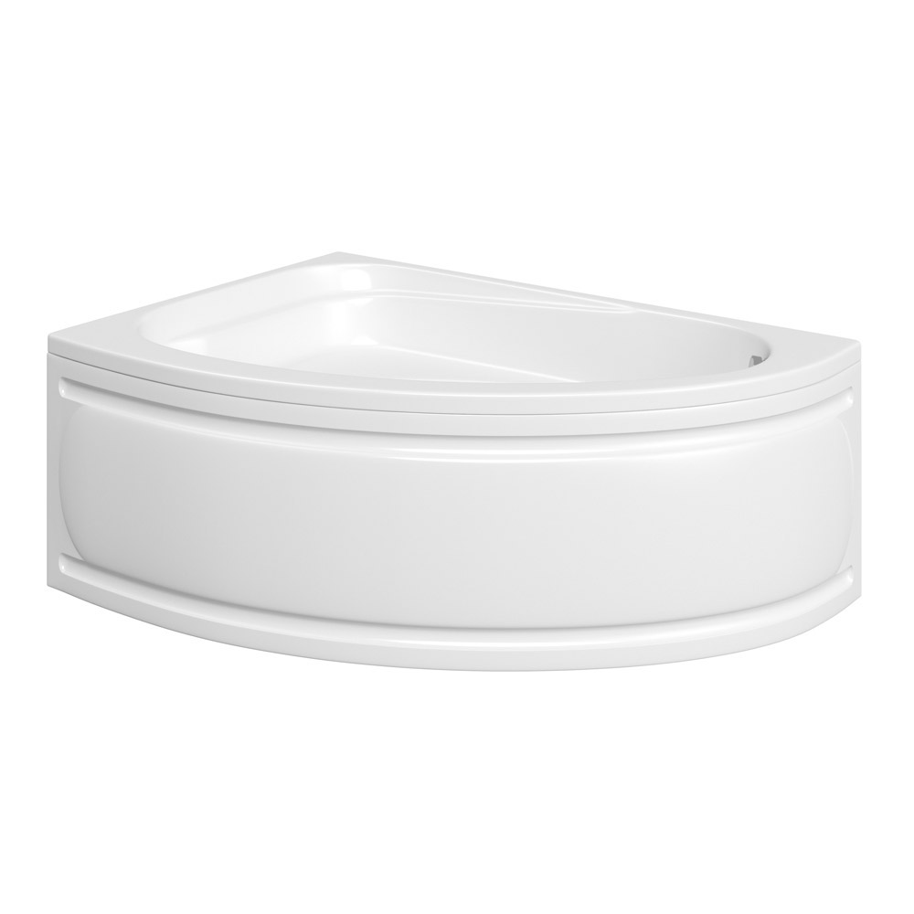 Trojan - Florida Roll Top Offset Corner Bath 1495 x 1010mm with Panel - L/H Option Large Image