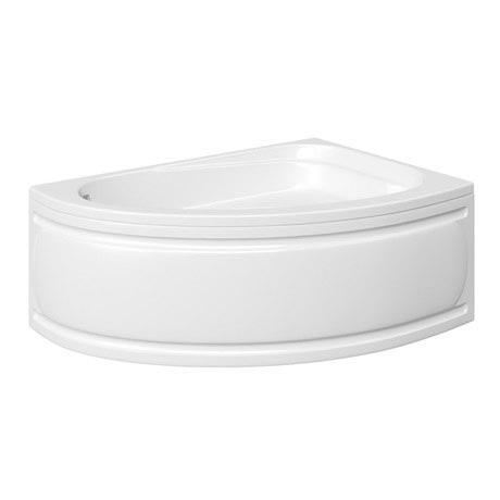 Trojan - Florida Roll Top Offset Corner Bath 1495 x 1010mm with Panel - R/H Option