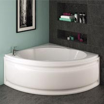 Trojan - Laguna Corner Bath 1200 x 1200mm with Panel Medium Image