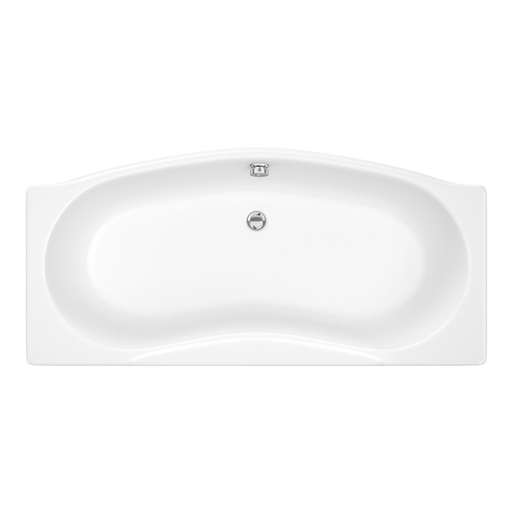 Trojan - Lucina Bow Front Double Ended Bath with Front & End Panels Profile Large Image