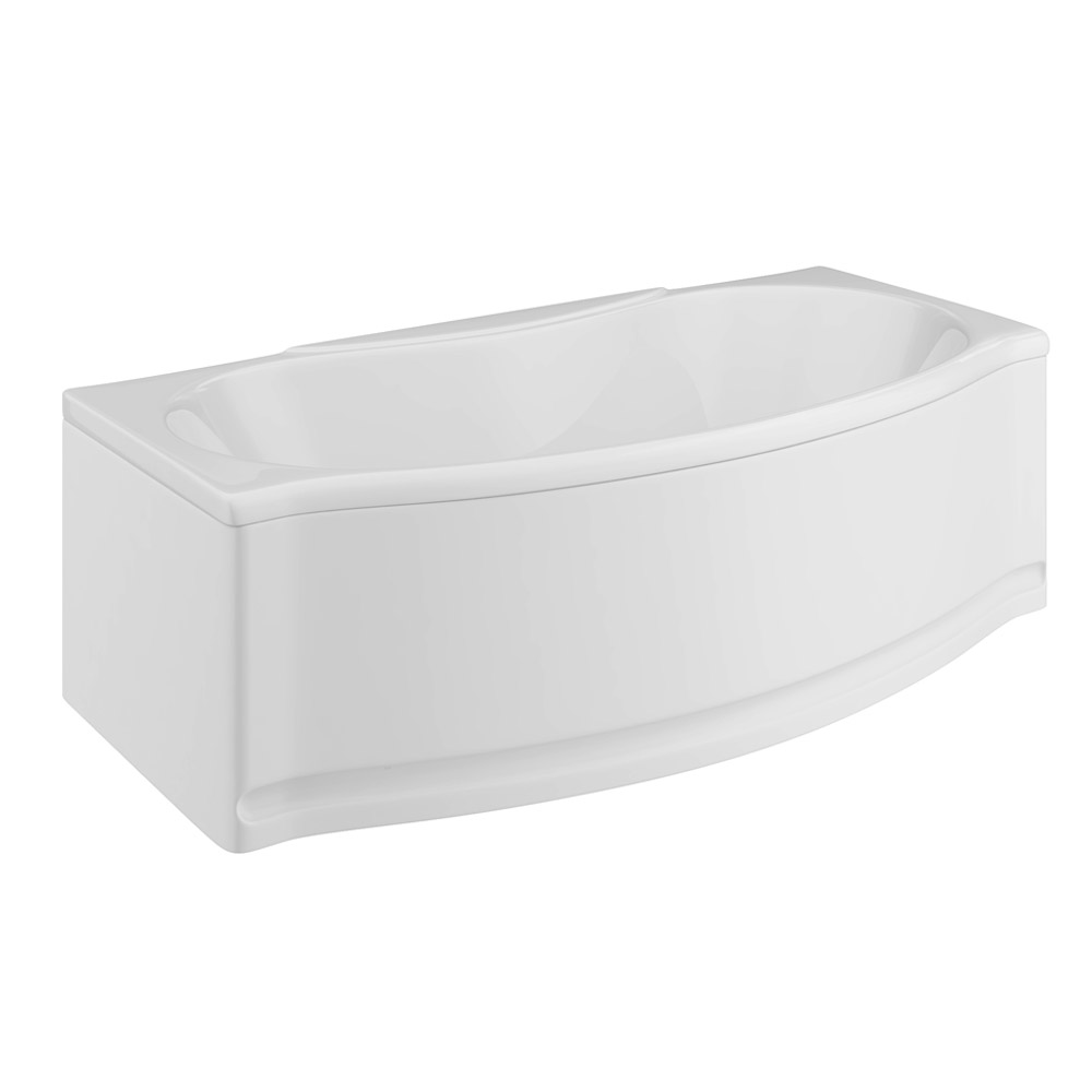 Trojan - Lucina Bow Front Double Ended Bath with Front & End Panels Large Image