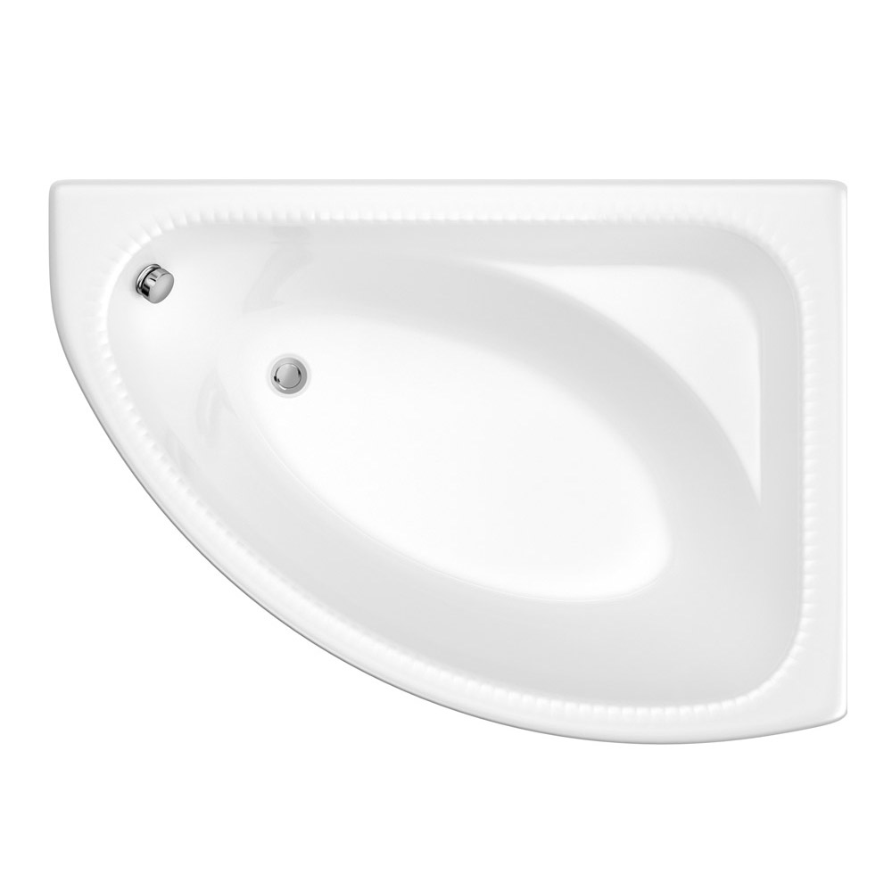 Trojan - Reef Offset Corner Bath 1500 x 1010mm with Panel - R/H Option Profile Large Image