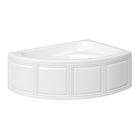 Trojan - Reef Offset Corner Bath 1500 x 1010mm with Panel - R/H Option