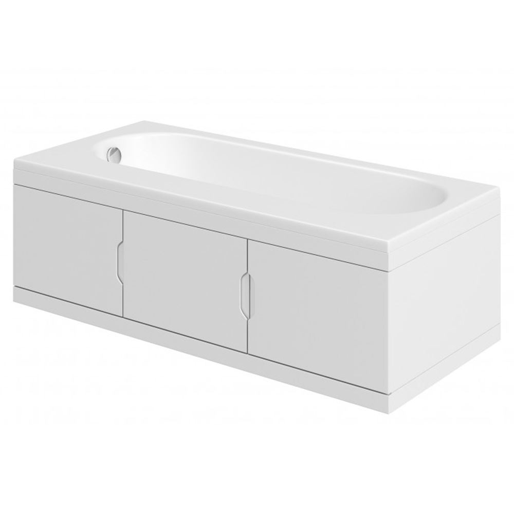 Trojan Repono 1675mm Single Ended Bath + Storage Panels
