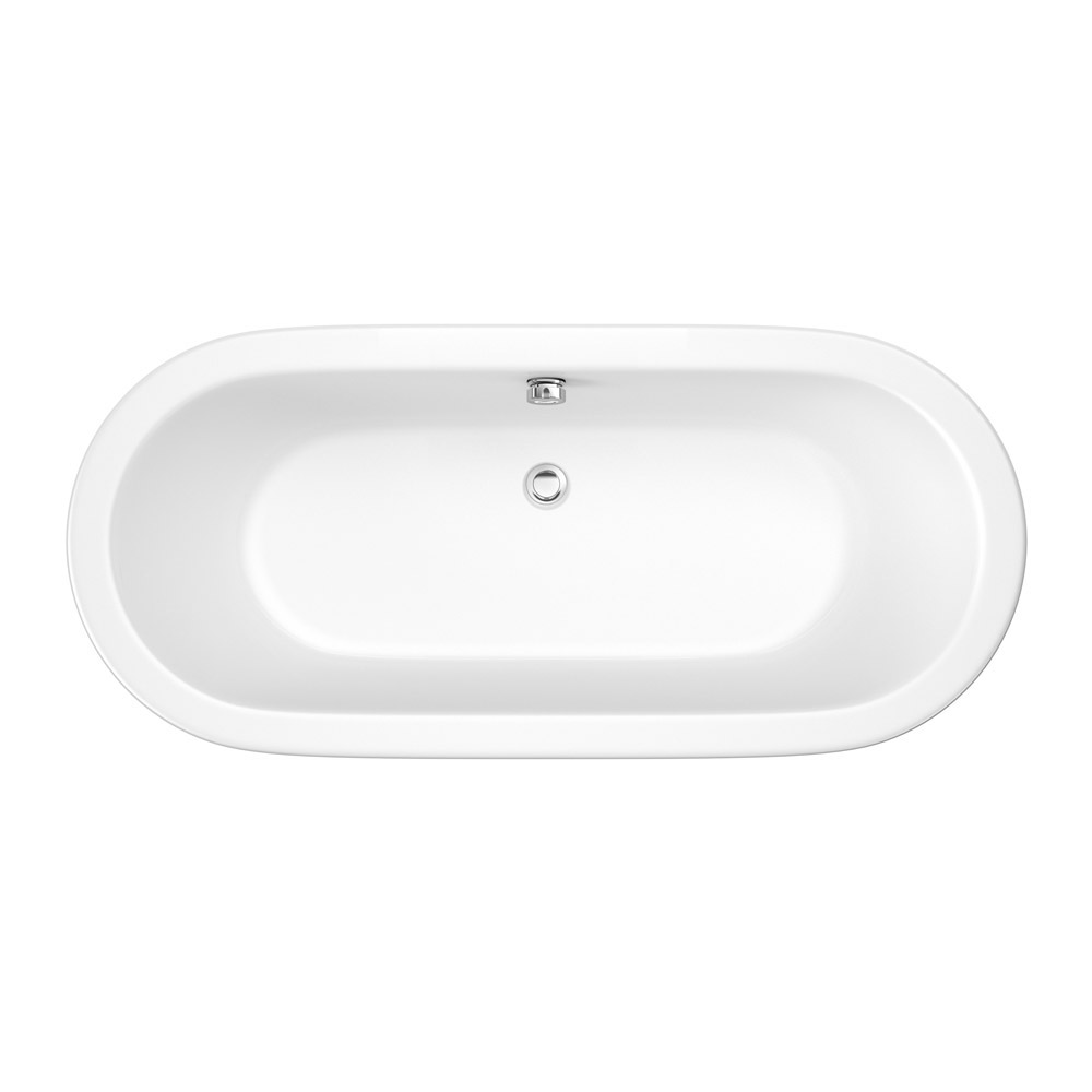 Trojan - 1695 x 755mm Inset Double Ended Oval Bath - PSJ010 Large Image