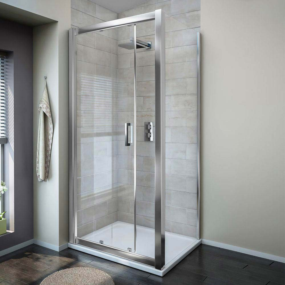 Turin 1000x1000mm Square Sliding Door Large Shower Enclosure - Easy Fit Large Image