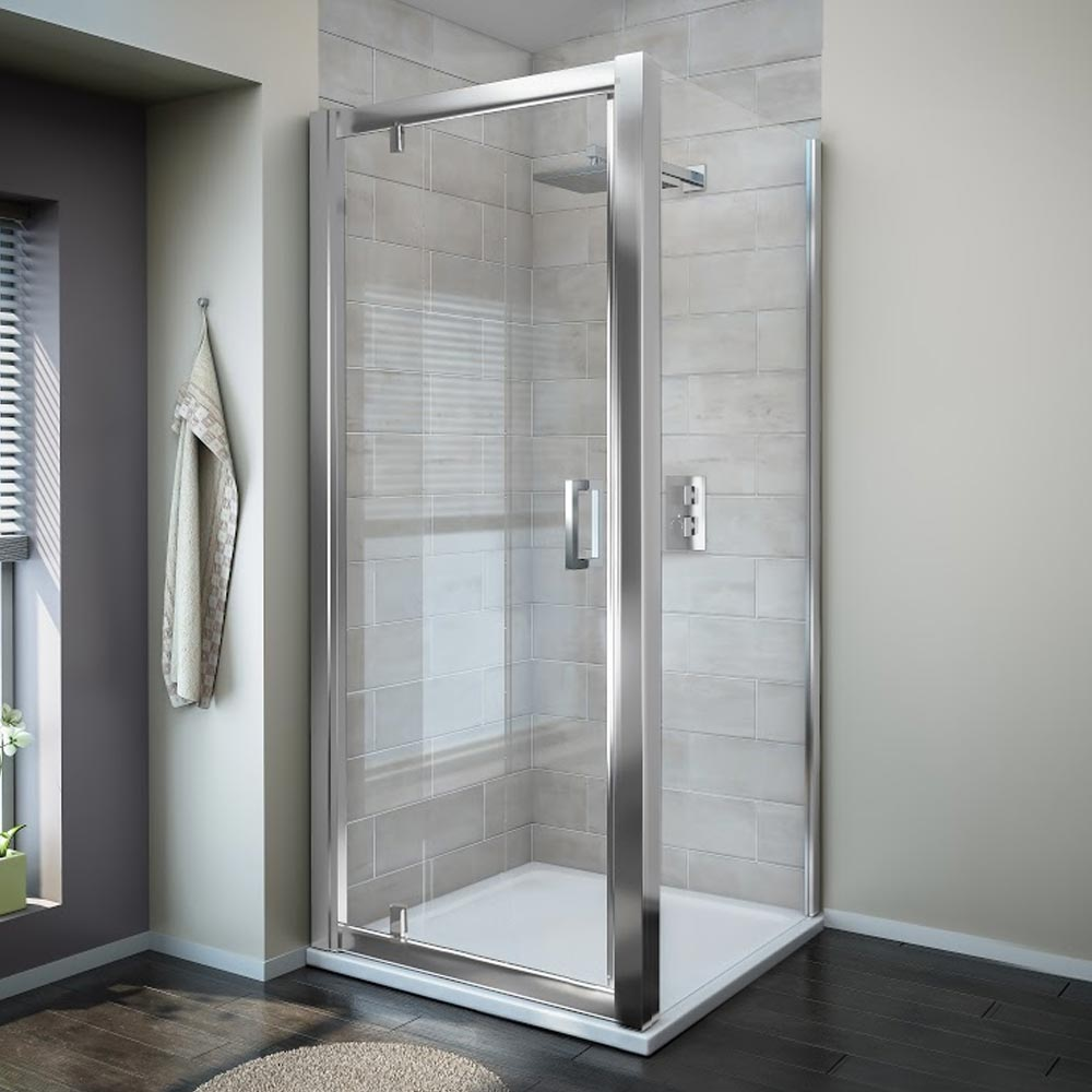 Turin 8mm Square Pivot Door Shower Enclosure - Easy Fit profile large image view 1