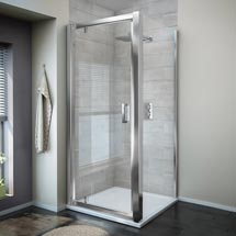 Turin 8mm Square Pivot Door Shower Enclosure - Easy Fit Medium Image