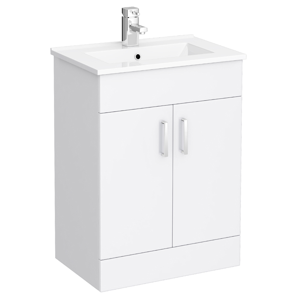 Turin Cloakroom Suite Inc. Pro 600 Toilet (White Gloss) Profile Large Image