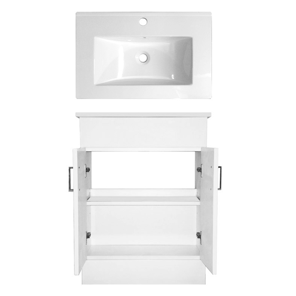 Turin Cloakroom Suite Inc. Pro 600 Toilet (White Gloss) Feature Large Image
