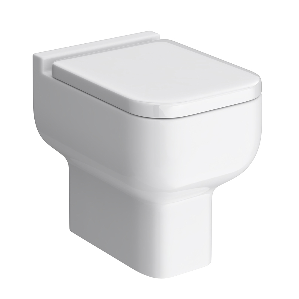 Turin Cloakroom Suite Inc. Pro 600 Toilet (White Gloss) In Bathroom Large Image