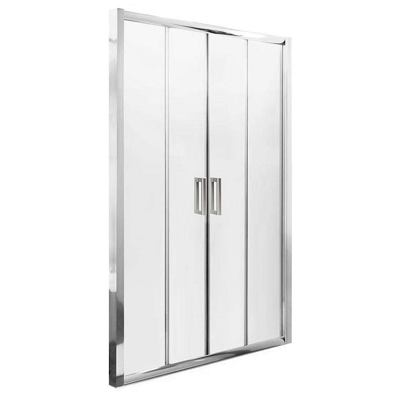 Turin Double Sliding 8mm Easy Fit Shower Door (1400mm) Profile Large Image