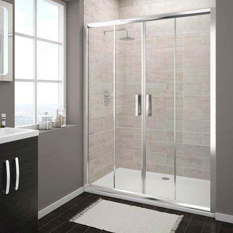 Turin Double Sliding 8mm Easy Fit Shower Door (1400mm)