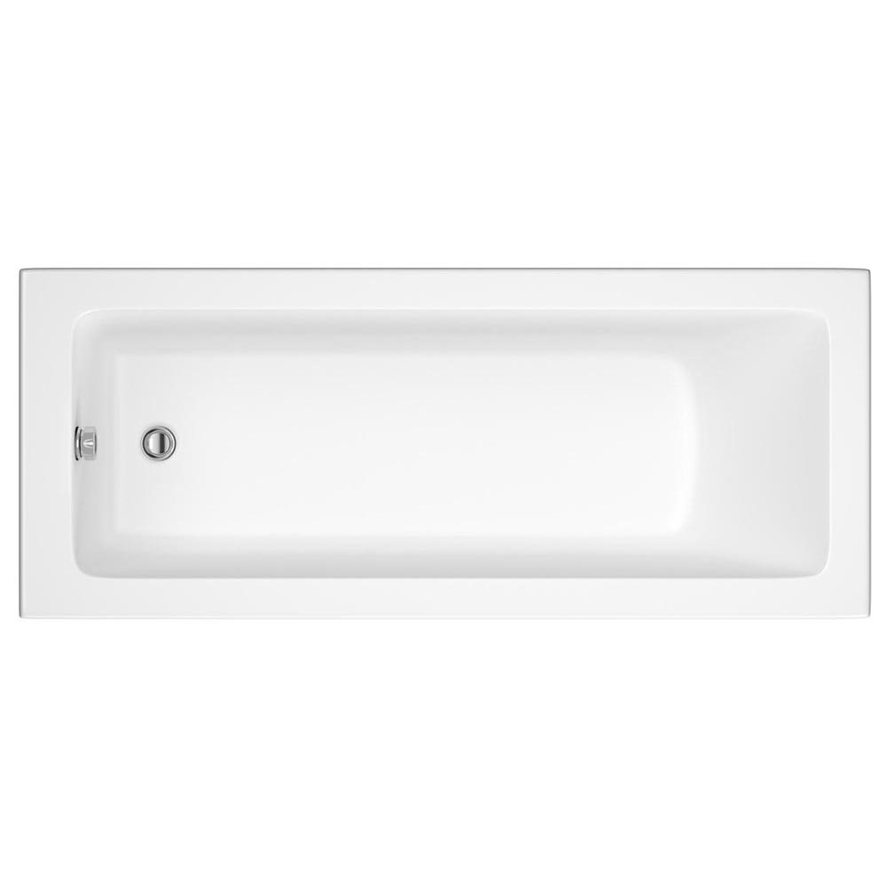 Turin Gloss White Vanity Unit Suite + Single Ended Bath - 3 Bath Size Options profile large image view 5