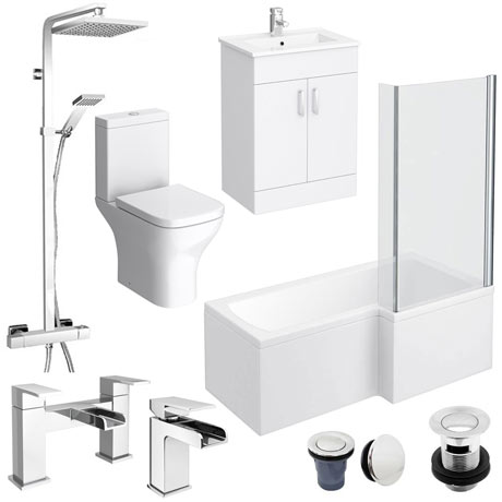 Turin L-Shaped 1700 Complete Bathroom Package