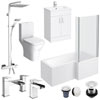 Turin L-Shaped 1700 Complete Bathroom Package profile small image view 1