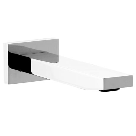 Milan Modern Wall Mounted Bath Spout - Chrome
